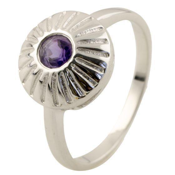 Родированное серебряное кольцо 925 пробы с олександритом