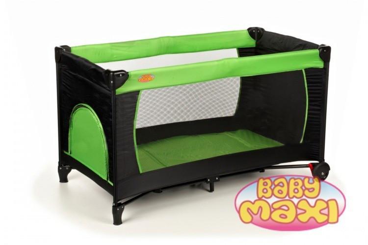 Манеж-кровать BABYmaxi BASIC Pink, зеленый