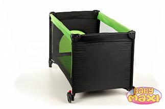 Манеж-кровать BABYmaxi BASIC Pink, зеленый, фото 2