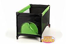 Манеж-кровать BABYmaxi BASIC Pink, зеленый, фото 3