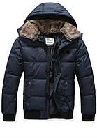 Мужская зимняя куртка с меховым воротником, фото 1