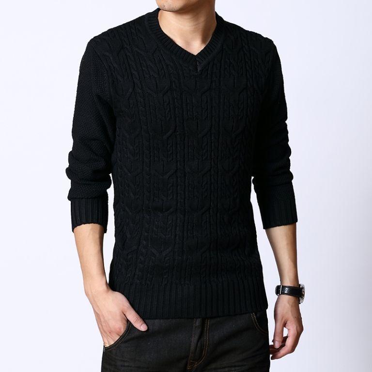 Пуловер-свитер с узором «косичка», фото 1
