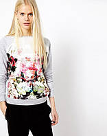 Пуловер 3D цветок, женский пуловер, свитер женский