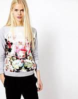 Пуловер женский 3D цветок, фото 1