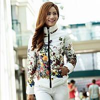 Женская зимняя куртка цветок, фото 1