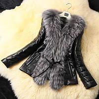Женская куртка с мехом высшего качества LUX5