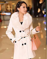 Женское пальто воротник мех, фото 1