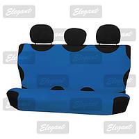 Чехлы майки универсальные автомобильные  на задние сидения голубая     EL 105 239