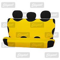 Чехлы майки универсальные автомобильные  на задние сидения жолтая     EL 105 237