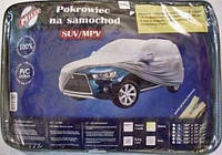 Тент автомобільний MILEX JEEP PEVA+PP Cotton XXL ( сірий+зеркало+замок) (шт.)