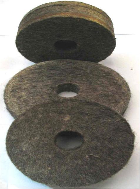 Круги войлочные полировальные (плотные)