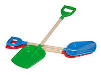 Игрушка лопатка малая с деревянной ручкой технок