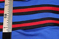 4 см.(Широкая). лента трикотажная черная красная №1030, фото 1