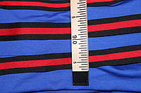 2,5 см. лента трикотажная черная красная №1031, фото 1