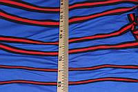 1,5 см. (Узкая) лента трикотажная черная красная №1032, фото 1