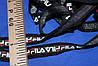 2.5 см.лента трикотажная люрекс (фила черная)  №1036