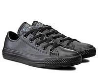Мужские кеды Converse Chuck Taylor All Star Leather 135253C 43 Черные  (26326-8) 73937074fafd8