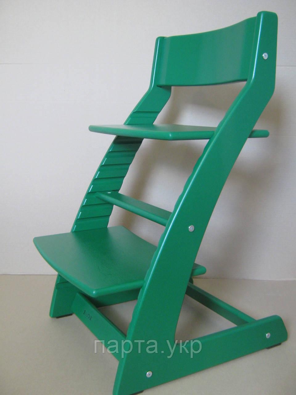 Детский стульчик растишка с подставкой для ног зеленый
