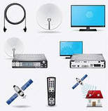 Комплект спутникового телевидения на 3 телевизора., фото 2