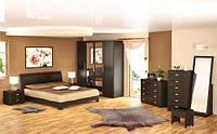 Токио набор для спальни №1 (Мебель-Сервис) венге темный