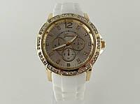 Часы GENEVA - в стиле Michael Kors белый ремешок