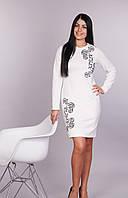 Белое платье с узором