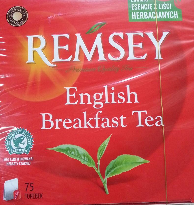 Чай Remsey English Breakfast Tea  75 пакетов