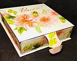 Коробка подарочная, Шкатулка, 20х20х5,7 см, Картонная упаковка для конфет, фото 3