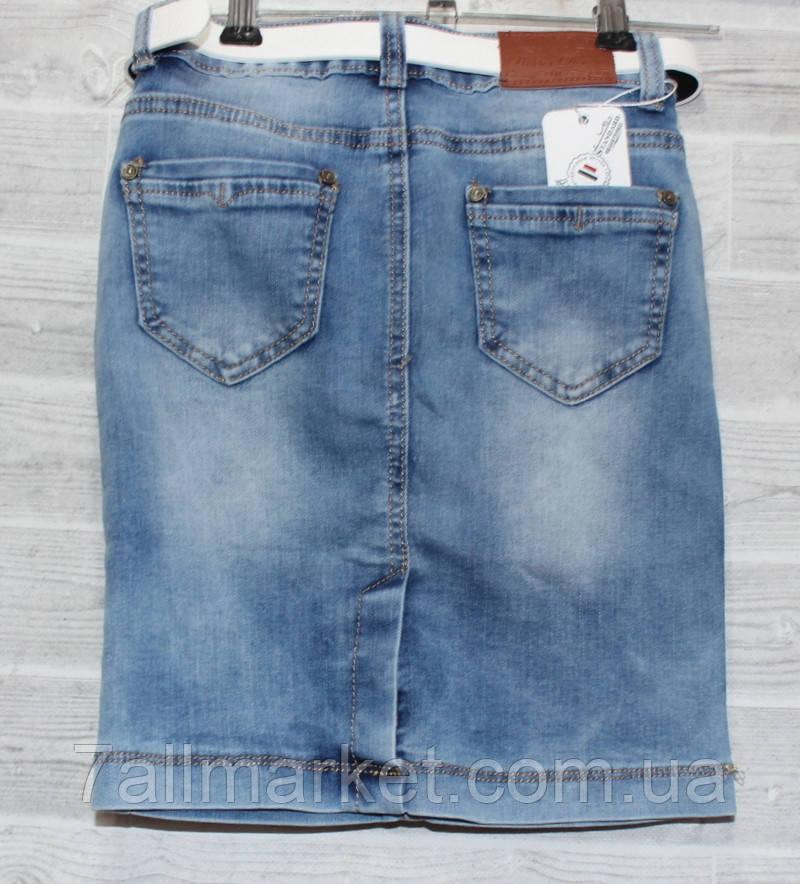 efe79a85d69 Юбка джинсовая подростковая с потертостями на девочку 8-14 лет