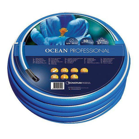 Шланг садовый Tecnotubi Ocean для полива диаметр 3/4 дюйма, длина 30 м (OC 3/4 30), фото 2