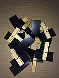 Меловой ценник 4х4 см с держателем прищепка для надписей мелом и маркером. Грифельная табличка, фото 4