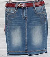 2626fe9775b Юбка джинсовая детская с ремешком на девочку 3-9 лет