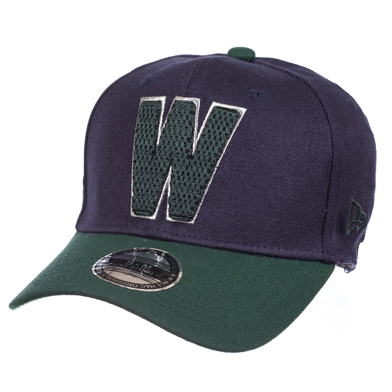Бейсболка FULL CAP W тем.синий/зеленый