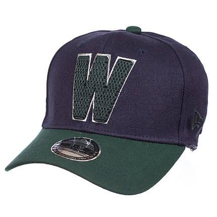Бейсболка FULL CAP W тем.синий/зеленый, фото 2