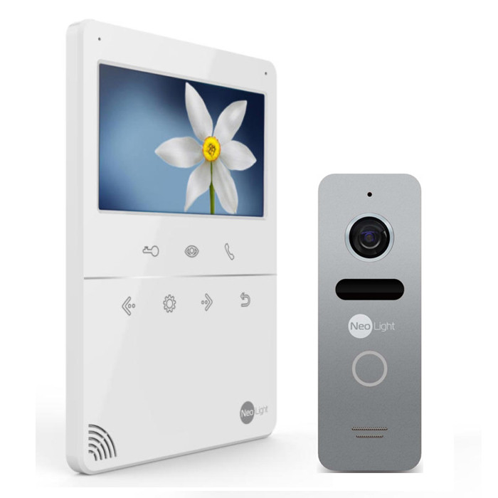 Комплект видеодомофон с вызывной панелью TETTA COMPACT Silver