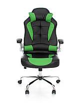 Офисное,компьютерное кресло Veroni Lucaro, черно-зеленое, фото 3