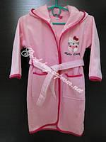Детский халат натуральный Турция розовый