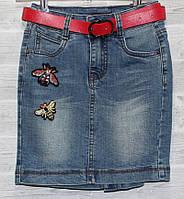 fcd544a8a37 385 грн. при заказе от 6 шт. В наличии. Юбка джинсовая подростковая с  потертостями на девочку 8-14 лет