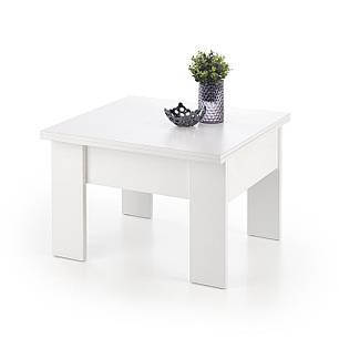 Журнальний стіл - трансформер SERAFIN 80(160)*80(3 кольори: білий, дуб сонома (Halmar), фото 2