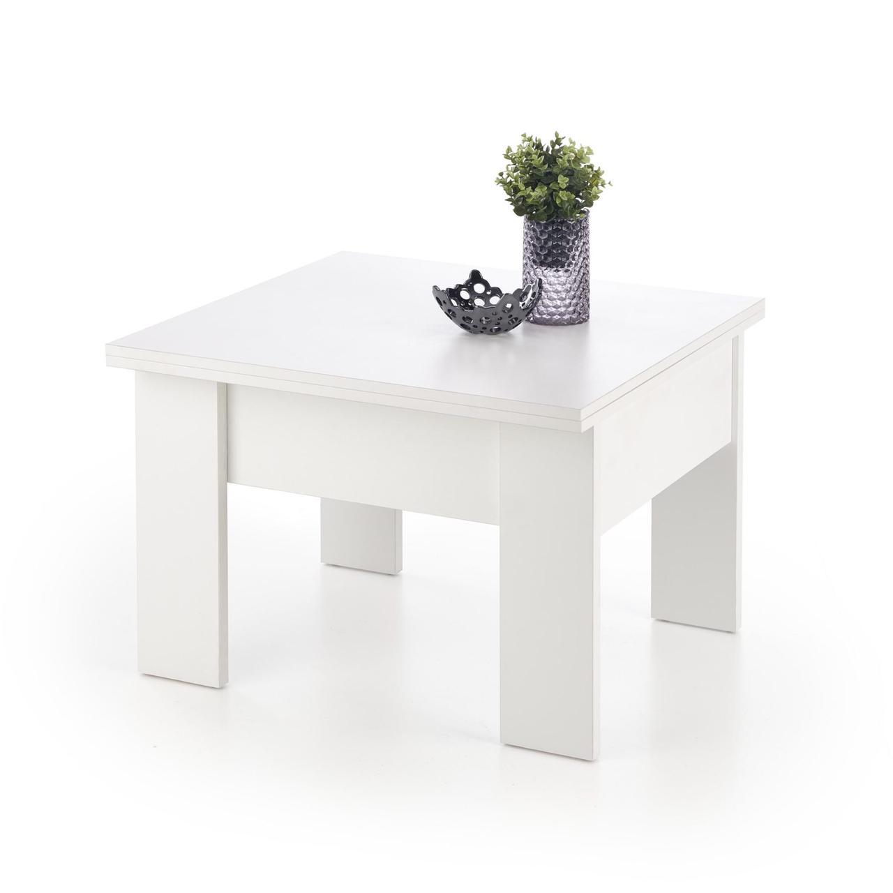 Журнальний стіл - трансформер SERAFIN 80(160)*80(3 кольори: білий, дуб сонома (Halmar)