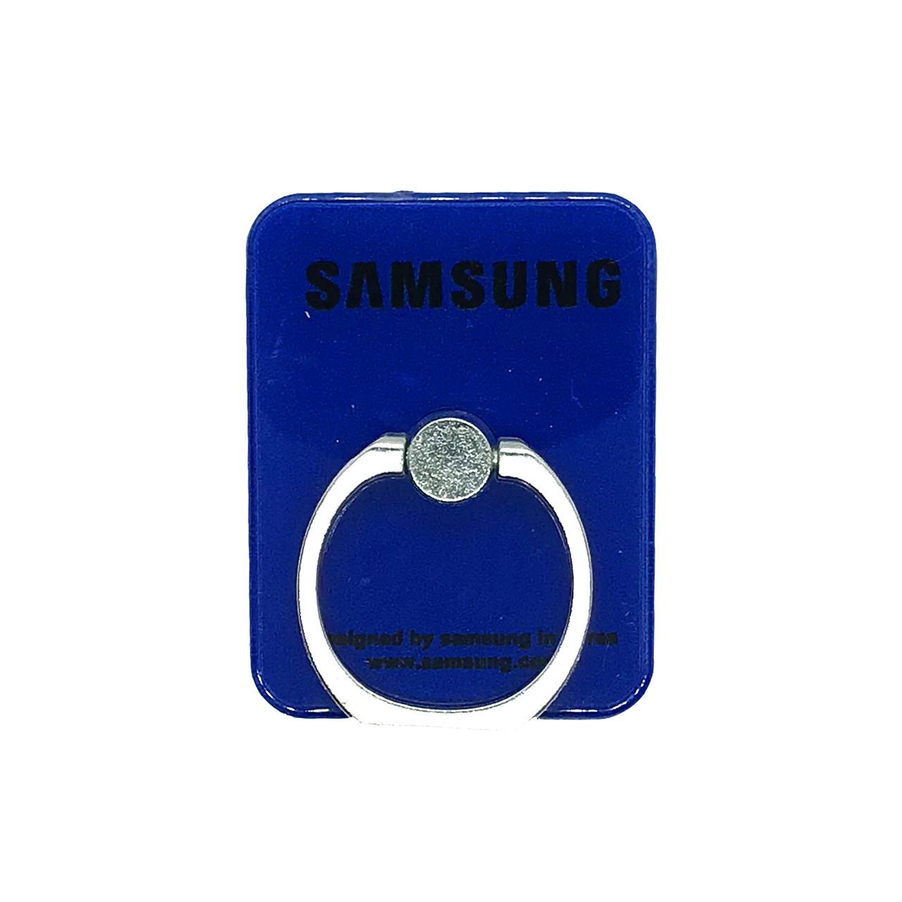 Держатель - кольцо - прямоугольник Samsung Blue