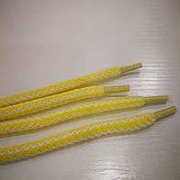 Шнурки для обуви 100см (Бело-желтый)