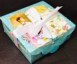 Подарочная коробка с лентой, Шкатулка c открыткой, Ретро, Картонная коробка для конфет, 700 грамм, фото 2