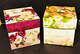 Подарочная коробка с крышкой, Пионы, Днепр, опт, фото 3
