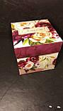 Подарочная коробка с крышкой, Пионы, Днепр, опт, фото 2