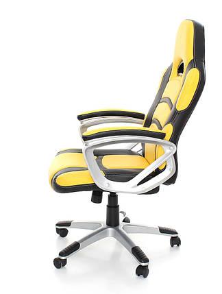 Офисное,компьютерное кресло Racer, желтое, фото 2