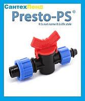 Кран стартовый с поджимом Presto-PS для капельной ленты 16 мм (OV-0217)