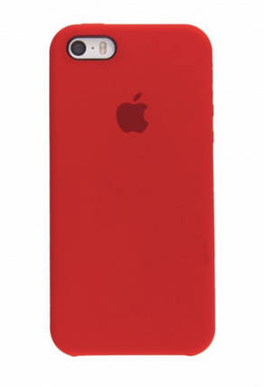 Чехол для Apple Silicone Case  (14) iPhone 5/5S/SE Red, фото 2