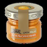 Джем Апельсин порционный в стеклянной баночке ТМ Дніпро, 30 г
