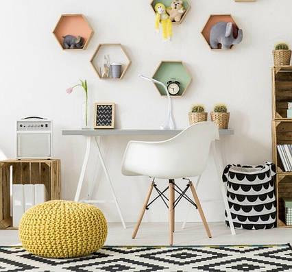 Кресло белое пластиковое в современном стиле Leon для баров, кафе, ресторанов,стильных квартир, фото 2